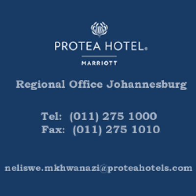 Protea Hotels By Marriot Regional Office Johannesburg Tel: (011) 275 1000